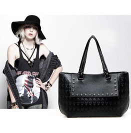 Large Embossed Skull Pattern Handbag