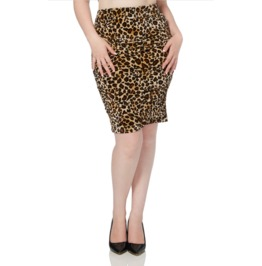 Voodoo Vixen Leopard Print Pencil Skirt