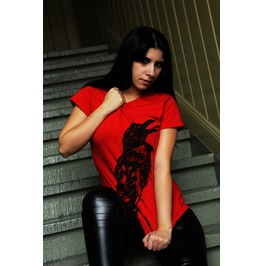 """Crow"" Women Shirt / Red"