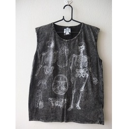 Skull Dead Body Soul Punk Rock Stone Wash Vest Tank Top M