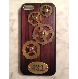 I Gearz Hand Made Apple I Phone 5 C Steampunk Neo Victorian Case Brass Gears Spin 431
