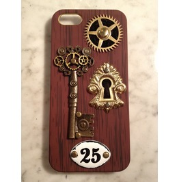 Gearz Hand Made Apple Phone 5 5 S Steampunk Neo Victorian Case Gear Keyhole 25