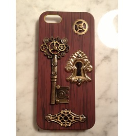 Igearz Hand Made Apple Iphone 5s Steampunk Neo Victorian Case Gear Keyhole