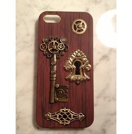 Igearz Hand Made Apple Iphone 5s Steampunk Neo Victorian Case Gear Keyhole
