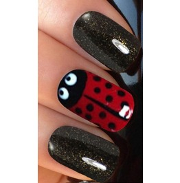Lady Bird Full Nail Decals Wraps X 10 Awwan011