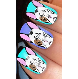 French Bulldog Full Nail Decals Wraps X 10 Awwan015