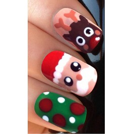 Christmas Jumper Full Christmas Nail Decals Wraps X 10 Awwch007
