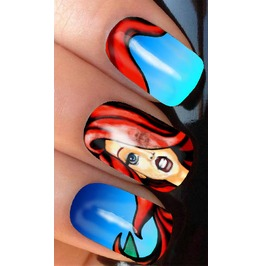 Fantasy Mermaid Full Nail Decals Wraps X 10 Awf049
