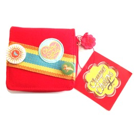 Racey! Scarlet Red Chupa Chup's Cupid Designer Purse 1970's Style
