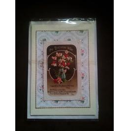 Handmade Greetings Card, Genuine Vintage Postcard