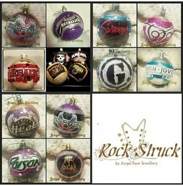 Rock Struck Christmas Bauble Proceeds Donated Support Autism Awareness