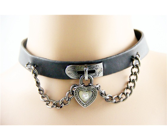 unique_black_leather_choker_love_heart_locket_front_chains_rings_5.jpg