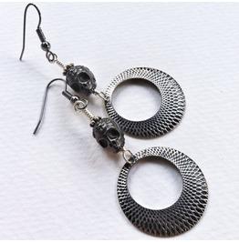 Creepy Chic Skull Earrings