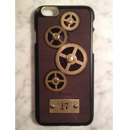 I Gearz Hand Made Apple I Phone 6 Steampunk Neo Victorian Case Brass Gears Spin 17