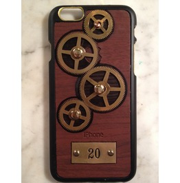 I Gearz Hand Made Apple I Phone 6 Steampunk Neo Victorian Case Brass Gears Spin 20
