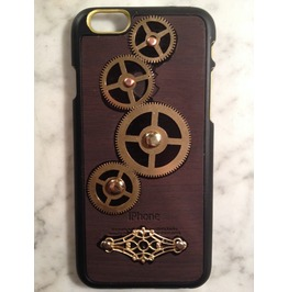 Igearz Hand Made Apple Iphone 6 Steampunk Neo Victorian Case Brass Gears Spin Vent