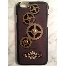 Igearz Hand Made Apple Iphone 6 Steampunk Neo Victorian Case Brass Gears Spin Vent