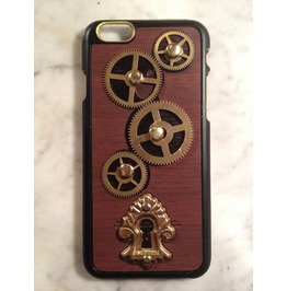 I Gearz Hand Made Apple I Phone 6 Steampunk Neo Victorian Case Brass Gears Spin Keyhole