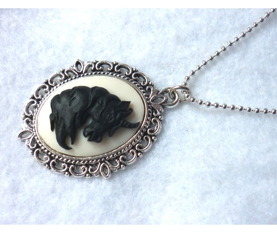 black_unicorn_on_white_necklace_elvish_victorian_gothic_wedding_shabby_medieval_necklaces_4.JPG
