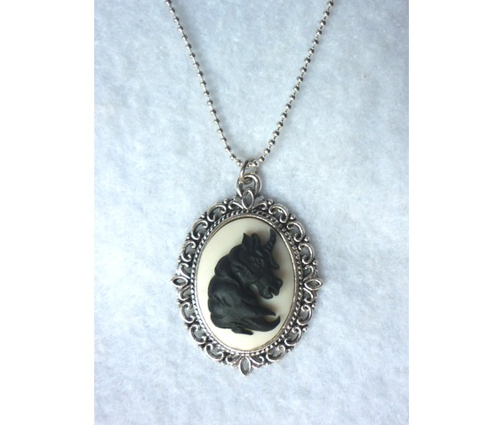 black_unicorn_on_white_necklace_elvish_victorian_gothic_wedding_shabby_medieval_necklaces_4.JPG