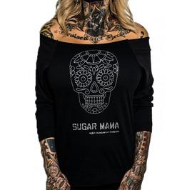 Sugar Mama 3/4 Sleeve Raw Edge Raglan