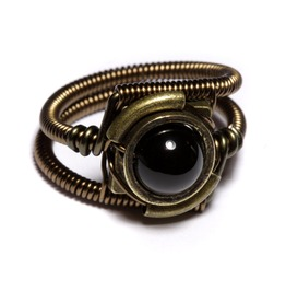 Steampunk Jewelry Ring Black Onyx