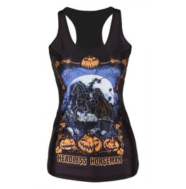 Women's Tank Top Vest Print Blouse Gothic Punk Party Clubwear Sleeveless T Shirt #6