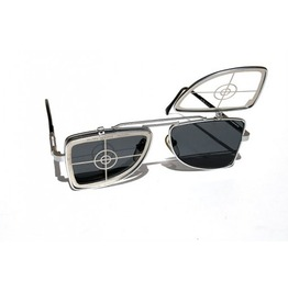 Wayferer Rectangular Metal Lens Flip Sunglasses