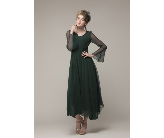 elegant_vintage_chiffon_green_long_dress_dresses_6.PNG