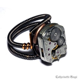 Steampunk Ring Antique Vintage Watch Movement