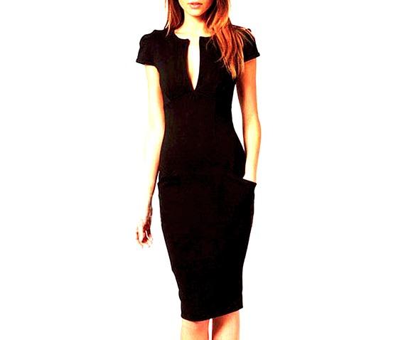 elegant_chic_mid_length_black_short_sleeved_dress_size_small_uk_6_8_dresses_2.jpg