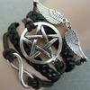 Retro style rope bracelet star infinity wing valentines day gift bracelets 2