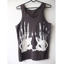 X Ray Finger Handcuff Cool Art Street Wear Fashion Pop Rock Tank Top