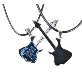 Striking! Two Rock Guitar Pendants One One Buddy