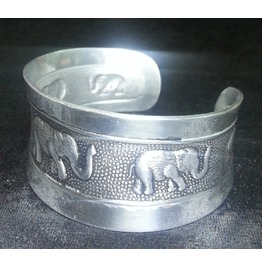 Gothic Stainless Steel Punk Elephant Cuff Bangle Bracelets Silver Color Men Women Biker 2