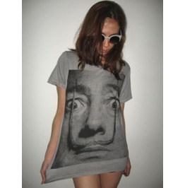 Salvador Dali Mustache Surreal Pop Fashion T Shirt M