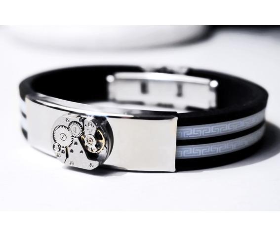 steampunk_bdsm_jewelry_mens_black_silver_cuff_brutal_metal_rubber_brass_soviet_watch_bracelet_gift_man_boyfriend_father_brother_bracelets_4.JPG