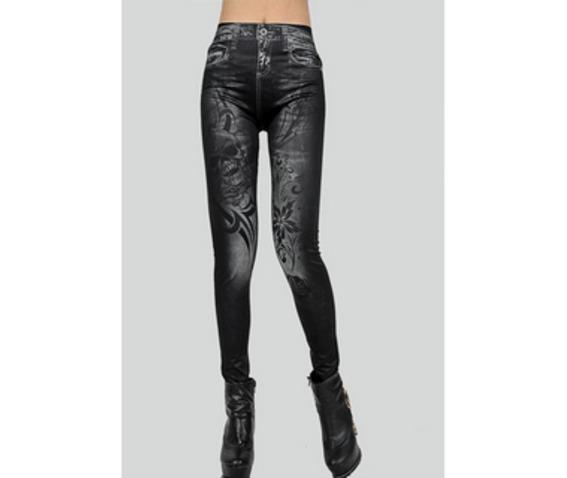flower_print_spandex_nylon_black_womans_leggings_fs00096_hqb_leggings_3.jpg