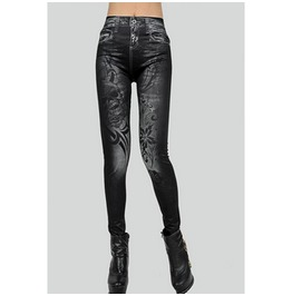 "Asian Style ""Painted On Jeans"" Women's Leggings Fs00096 Hqb"
