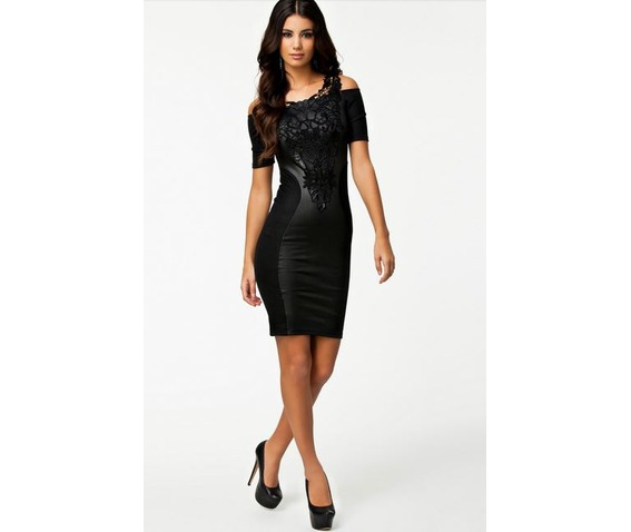 black_embroidered_faux_leather_stretchy_off_shoulder_bodycon_minidress_dresses_5.jpg