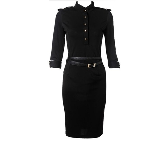 black_button_up_military_style_knee_length_dress_dresses_6.jpg