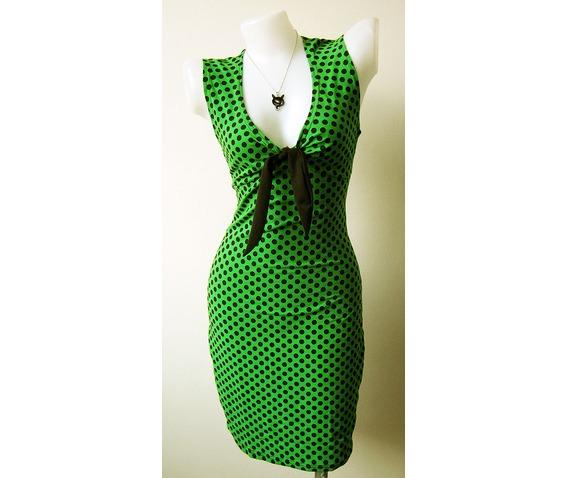 women_s_sexy_rock_punk_emo_retro_new_dress_green_dot_pokka_dot_black_size_m_l_xl_dresses_3.jpg
