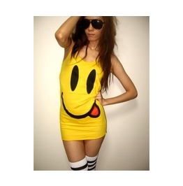 Happy Face Smiley Nice Day Pop Rock Tank Top