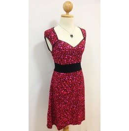 Mysterycat Red Leopard Dress Vintage Punk Party Club Pin Retro 2015