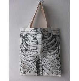 Skull Fashion Canvas Tote Bag