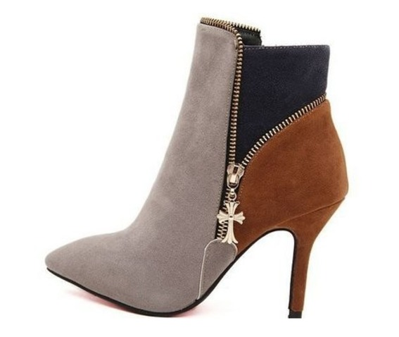 colorful_cross_charm_side_zipper_thin_high_heel_ankle_boots_boots_4.PNG