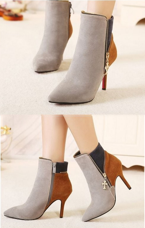 colorful_cross_charm_side_zipper_thin_high_heel_ankle_boots_boots_2.PNG