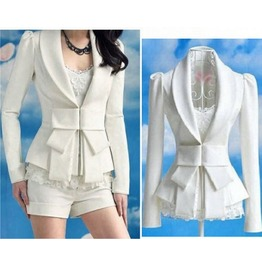 Hot Fairy Lolita White Blazer Sizes M L 76665.01 Nf