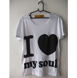 24f9e9112f79a Love Soul Fashion T Shirt Low Cut M