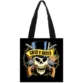 Casual Guns N Roses Print Canvas Handbag